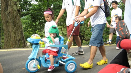 Some of our participants on wheels :)