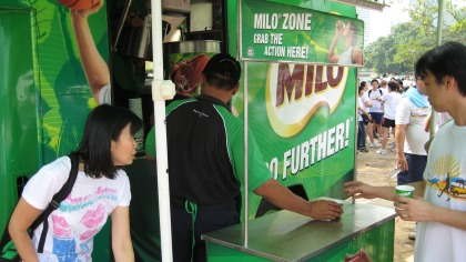 Thirst quenching Milo that was available throughout the morning