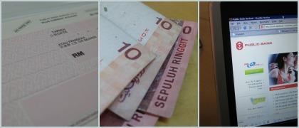 Check deposit / Cash deposit / Online banking
