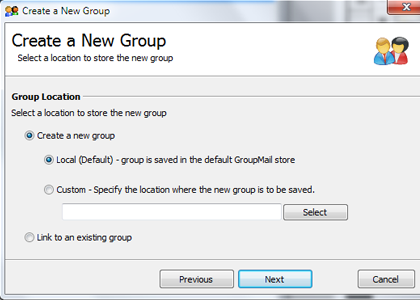 Selections of Group Type